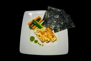 Roast Paneer with Laver Seaweed